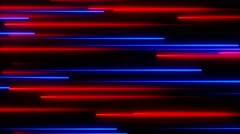 Metro Light Streaks Seamless Loop Horizontal Red Blue Stock Footage