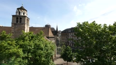 General view of St. Pierre Cathedral's square Stock Footage