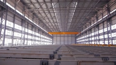 Cooling rails in steel mill Stock Footage