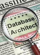 Database Architect Job Vacancy. 3D Stock Illustration