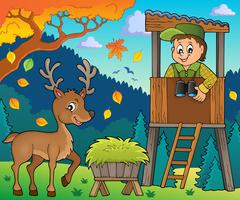 Forester theme image Stock Illustration