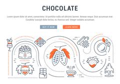 Website Banner and Landing Page Chocolate Stock Illustration