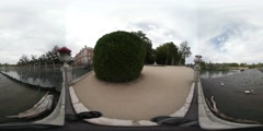 360 Spherical VR Video of spanish gardens in Aranjuez. Shot on VR camera Stock Footage