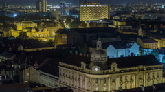 Old town of Zagreb at night timelapse. Zagreb, Croatia Stock Footage