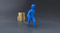 Burden symbol - 3D Animation Stock Footage