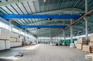 Interior of new warehouse Stock Photos