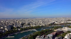 The City of Paris - wonderful aerial view Stock Footage
