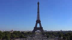Paris Eiffel Tower - view from Trocadero Stock Footage