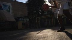 Basketball Player Bouncing the Ball Stock Footage