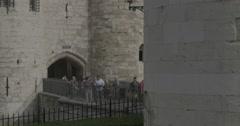 Tower of London Foot Bridge - London, England - 4K Stock Footage