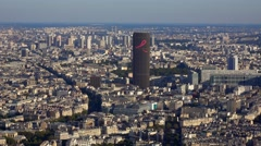The City of Paris and Montparnasse Tower Stock Footage