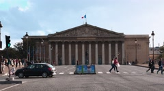 The French National Assembly - Assemblee nationale in Paris Stock Footage