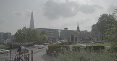 Traffic in London City Centre | London, England - 4K Stock Footage