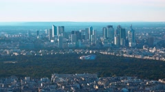 Aerial view over the city of Paris - amazing shot on a sunny day Stock Footage