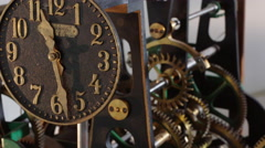 Tower clock construction  Stock Footage