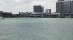 MIAMI,FLORIDA Jet skies entering Port of Miami 4K Stock Footage