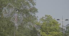 Bubbles in slow motion - London, England - 4K Stock Footage