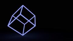 Blue cube edges Stock Footage
