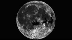 Santa Claus silhouette on the Moon-HORIZONTAL Stock Footage