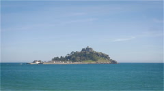 St. Michael's Mount, Penzance, Cornwall, England Stock Footage