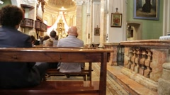 In italy   the altar and people in wedding cerimony Stock Footage