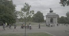 Wellington Arch / London, England - 4K Stock Footage