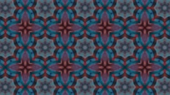 Abstract colorful digital kaleidoscopic loopable motion graphic background Stock Footage