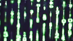 Letter and number code sequence concept Stock Footage