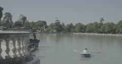 Buen Retiro Park - Madrid, Spain - 4K Stock Footage