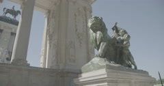 Monument to Alfonso XII - Buen Retiro Park - Madrid, Spain - 4K Stock Footage
