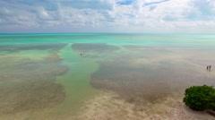 Overseas highway, Florida Keys aerial view Stock Footage