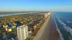 Daytona Beach on a beautiful sunny day, aerial view Stock Footage