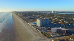 DAYTONA BEACH, FL – Panoramic aerial view of Daytona Beach in Stock Footage