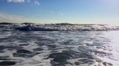 Wild sea panning at netherlands Stock Footage