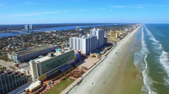Aerial view of Daytona Beach and Buildings, Florida Stock Footage