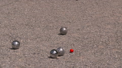 Close up of petanque game Stock Footage