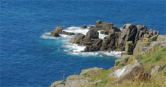 Lands End, Cornwall, England - real time Stock Footage