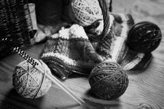 Hobby black and white ball Stock Photos