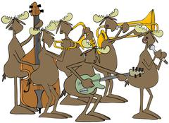 Bull moose jazz band Piirros