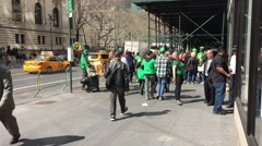 NEW YORK CITY: The annual St. Patricks Day Parade along fifth avenue Stock Footage