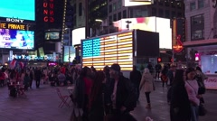 New York City: Camera pans up and then down in Times Square.   Stock Footage