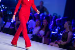 Sofia Fashion Week red suit Stock Photos