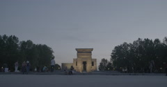 Temple of Debod - Madrid, Spain - 4K Stock Footage