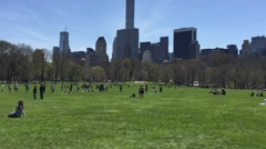 NEW YORK: People spend time amusing themselves in Central Park on Stock Footage