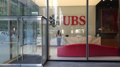 NEW YORK CITY: UBS Flagship offfice - Established in 1988, UBS Stock Footage