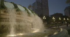 Plaza de España Fountain - Madrid, Spain - 4K Stock Footage