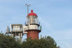 Lighthouse on the island of Vlieland  . Stock Photos