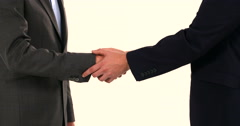 Handshake Businessman Deal shaking hands Power hand game close 4K Ultra HD Stock Footage
