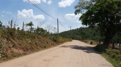 Driving in a Countryside road in Brazil Stock Footage