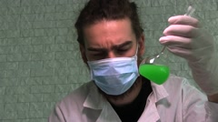 Researcher Conducting Experiments In A Laboratory Stock Footage